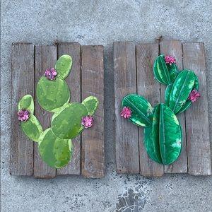 3D cactus wall art